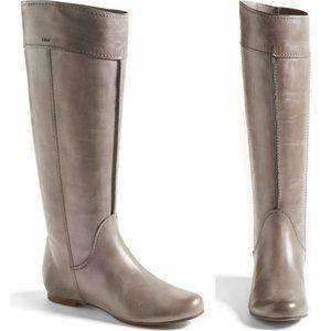 Chloe Heloise Tall Calfskin Leather Boot Size 40.5